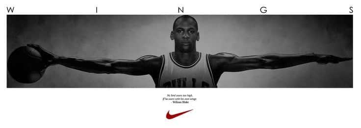 """Michael Jordan, publicité """"Wings"""" pour Nike"""