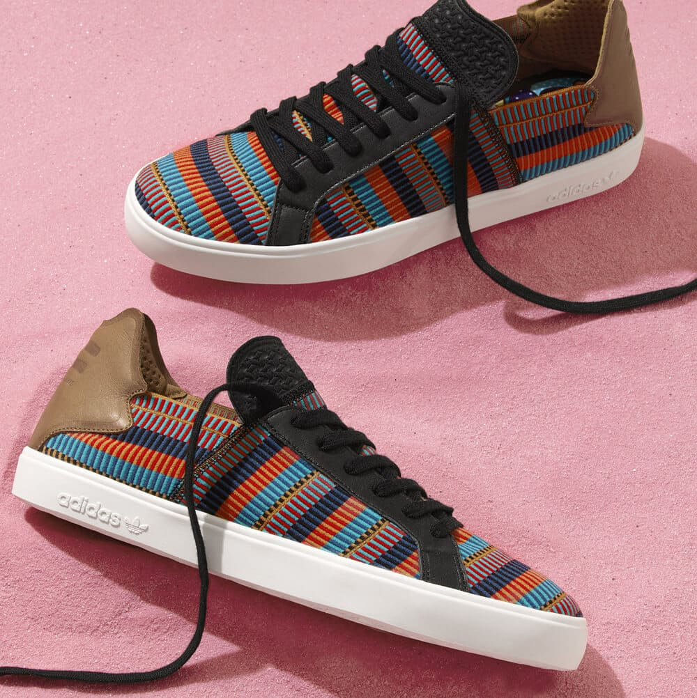 adidas Originals Elastic Lace Up Pink Beach by Pharrell