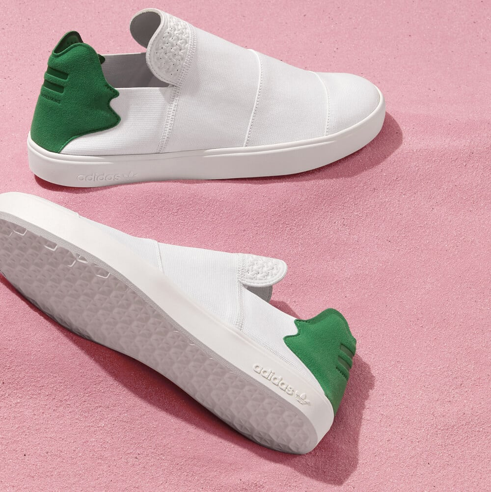 adidas Originals Elastic Slip On Pink Beach by Pharrell