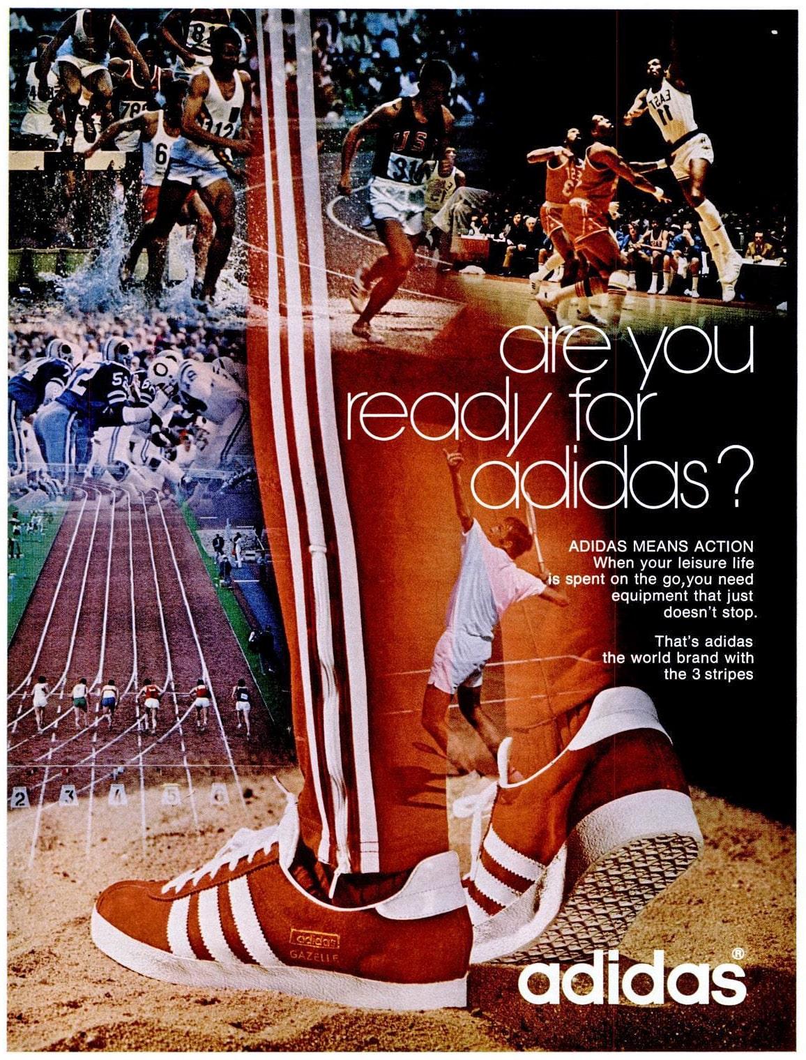 adidas Gazelle, original advertising