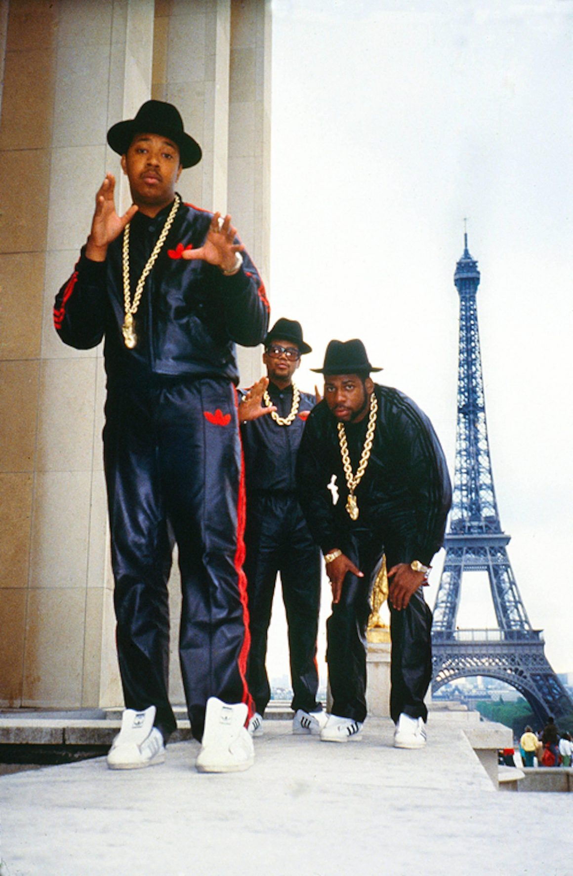 Les Run-D.M.C. aux pieds de la Tour Eiffel