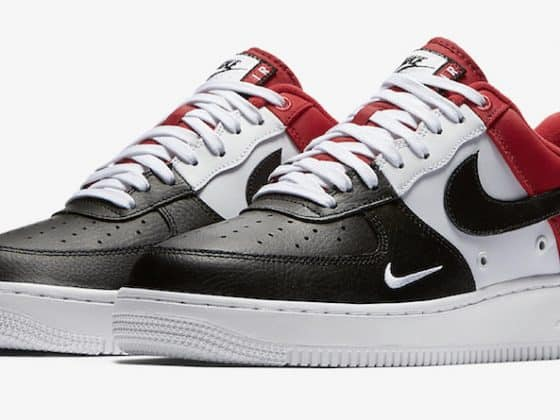 Nike Air Force 1 Mini Swoosh Black Toe