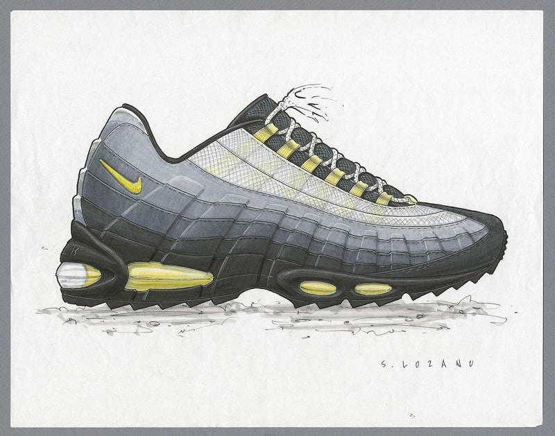 Croquis de la Nike Air Max 95