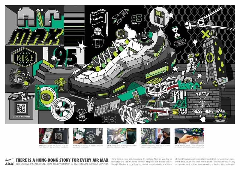 Illustration de la Nike Air Max 95 pour le Air Max Day 2015
