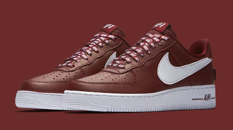 Nike Air Force 1 Statement Game Pack burundy