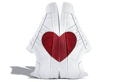 adidas Superstar 80s Half Heart, une nouvelle version inédite pour la Saint-Valentin