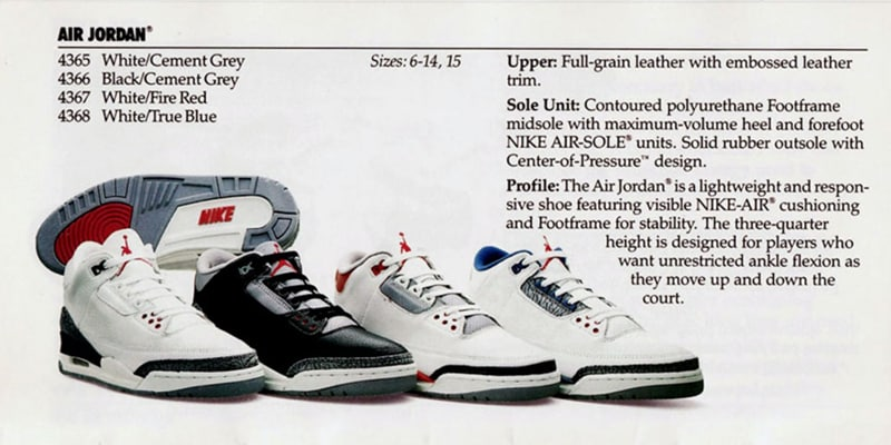 Les 4 colorways OG de la Air Jordan 3