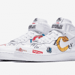 Supreme x Nike Air Force 1 Mid '07 NBA Logos White
