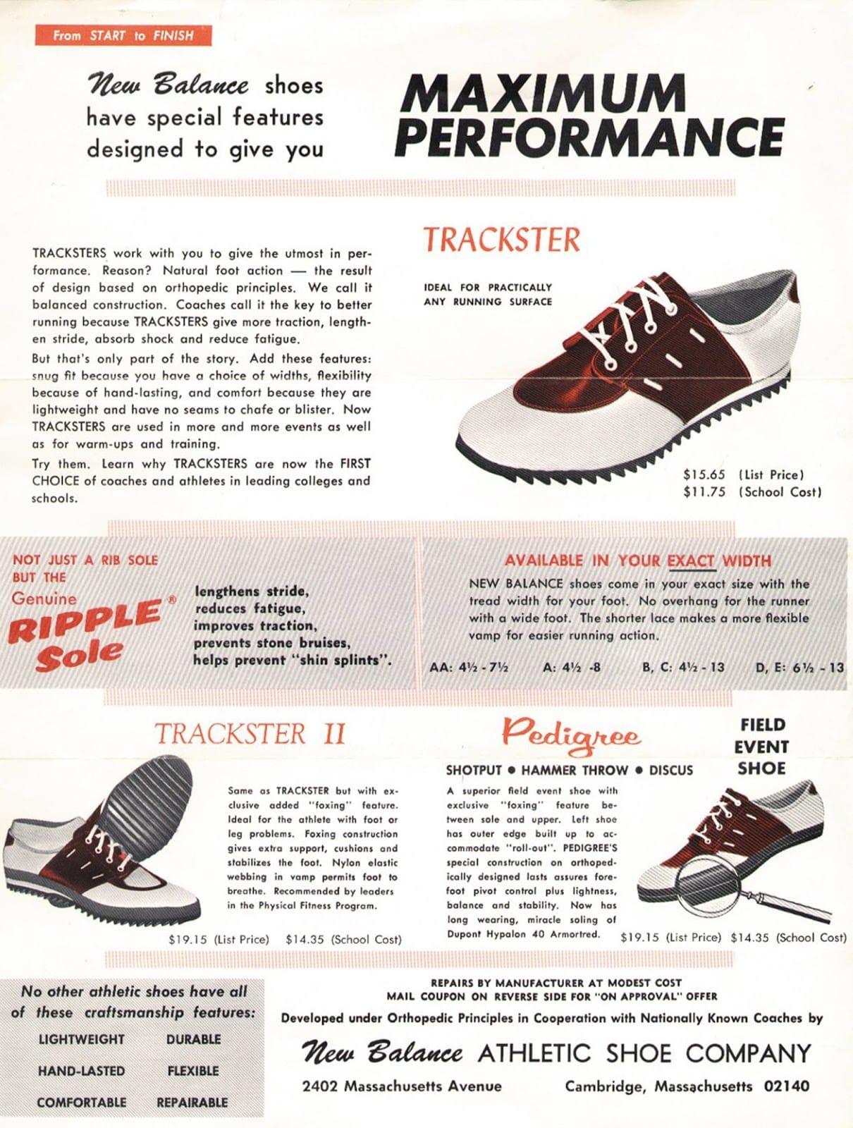 Publicité pour la New Balance Trackster