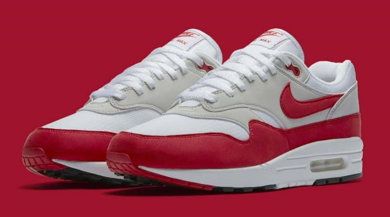 "Nike Air Max 1 ""Anniversary"" White/University Red"