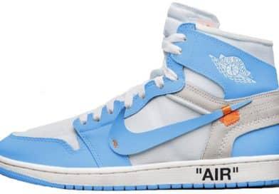 Off-White x Nike Air Jordan 1 «Dark Powder Blue»
