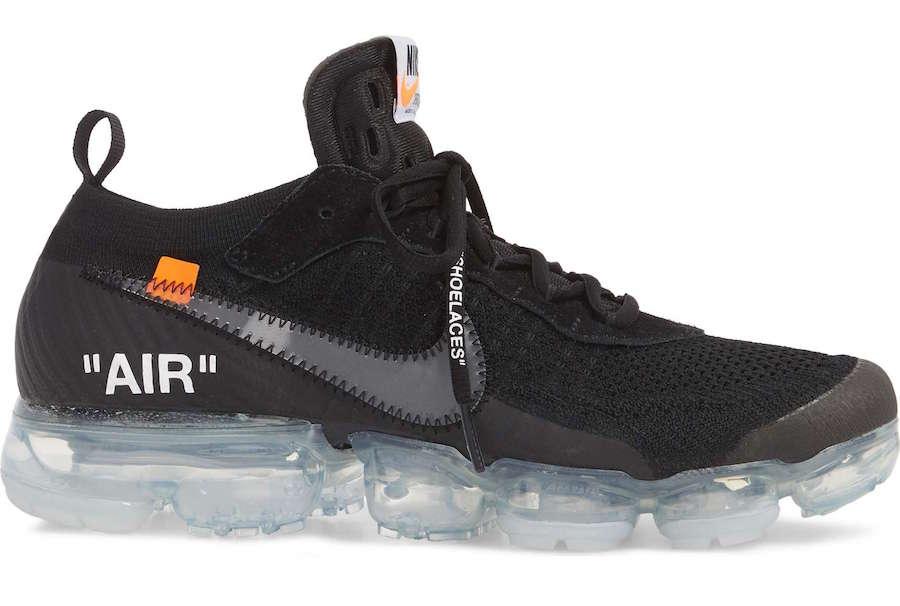 Off White x Nike VaporMax Flyknit noire Sneaker Style