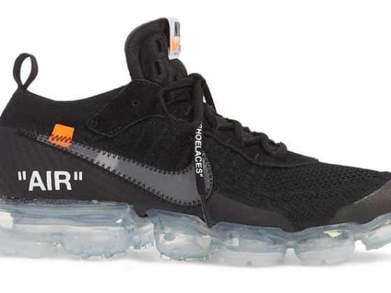Off-White x Nike VaporMax Flyknit noire