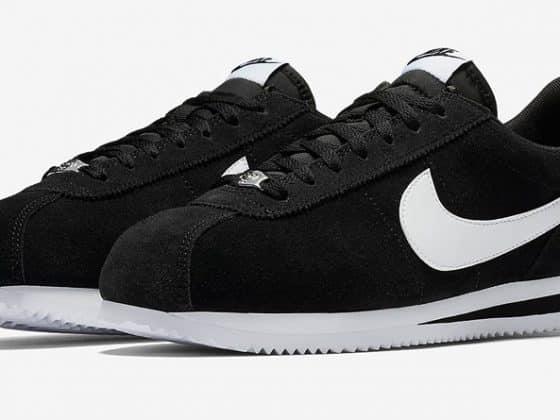 """Nike Cortez Basic SE """"Mini Swoosh"""" noire et blanche"""
