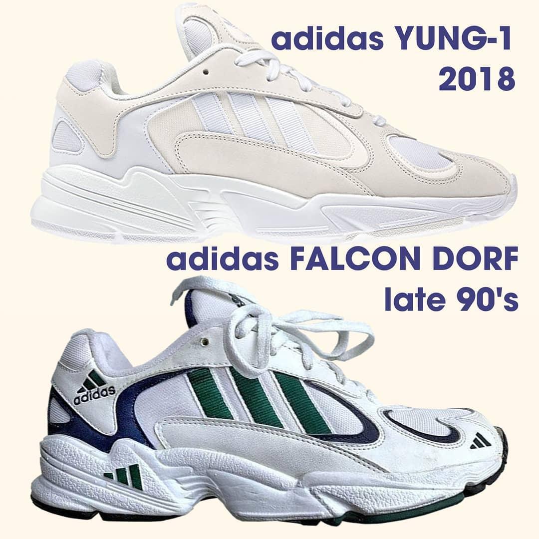 adidas Yung-1 vs adidas Falcon Dorf