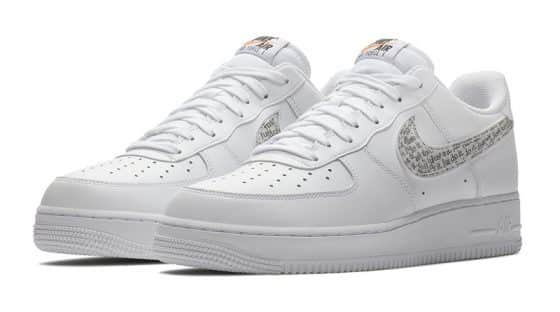 """Nike Air Force 1 Low """"Just Do It"""" blanche"""