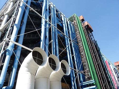 Les couleurs structurantes du Centre Pompidou
