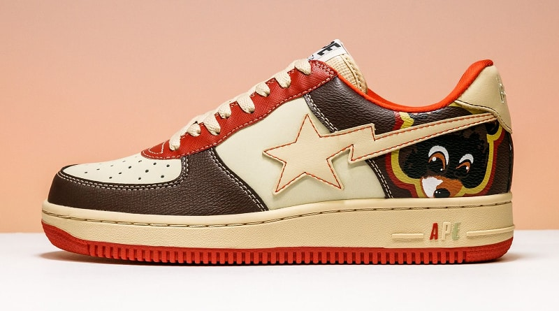 Kanye West x Bathing Ape Bapesta Low