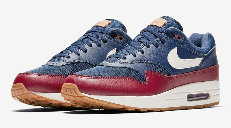Nike Air Max 1 Premium Navy/Deep Red