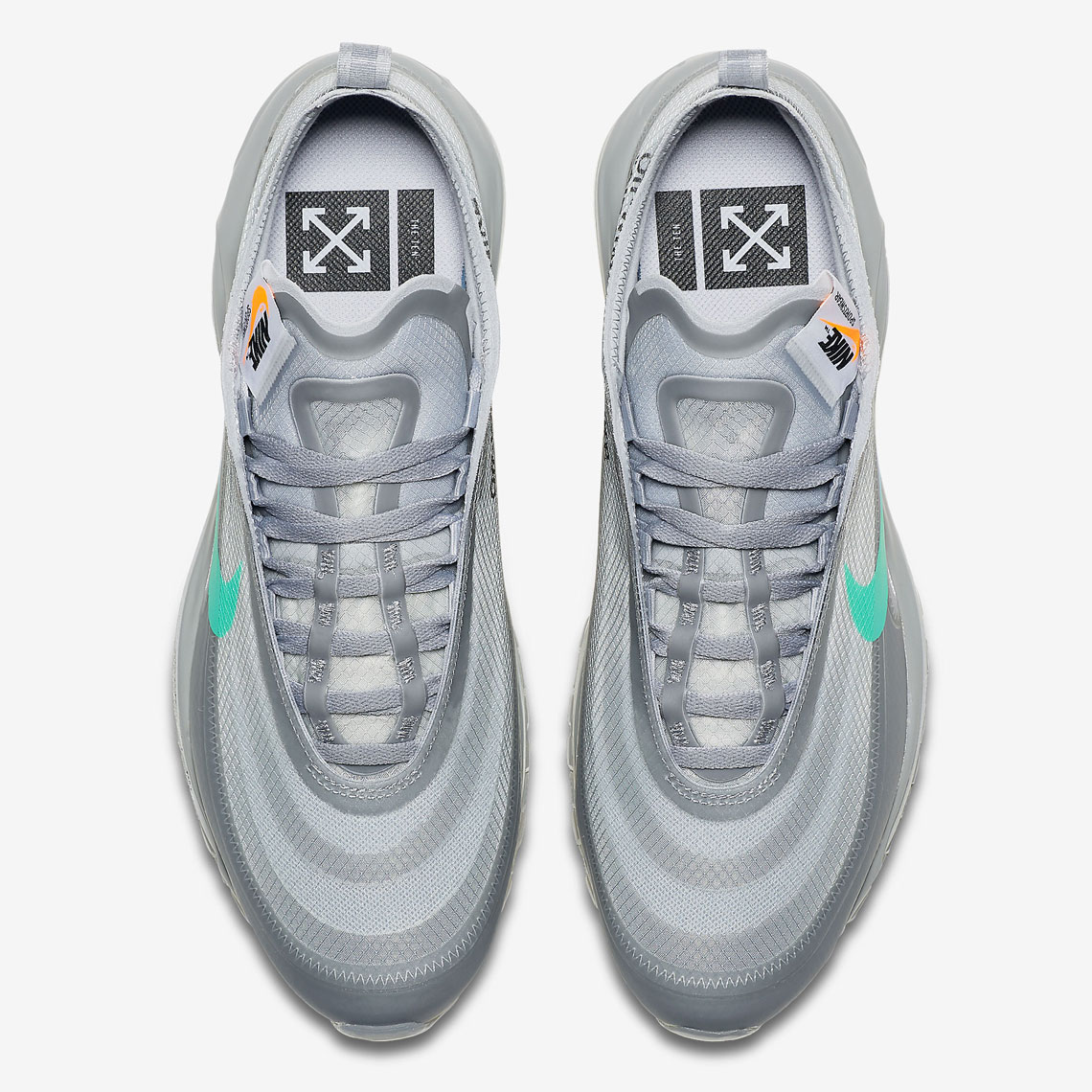 Off White x Nike Air Max 97 Menta Sneaker Style