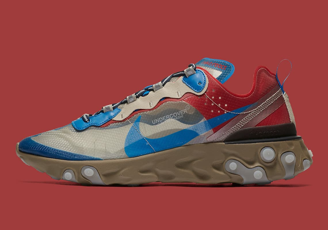 UNDERCOVER x Nike React Element 87 Sneaker Style