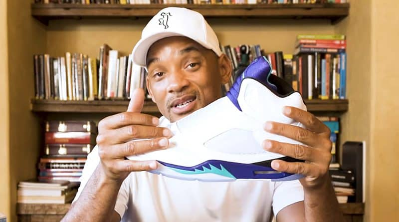 "Will Smith unboxing Air Jordan 5 NRG ""Fresh Prince"""