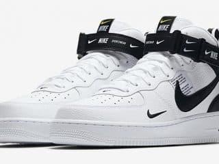 Nike Air Force 1 Mid '07 LV8 Utility ''Black & White''