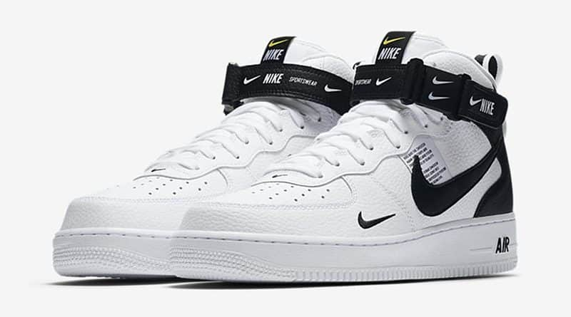 cheap for discount 1ef52 57431 Nike Air Force 1 Mid 07 LV8 Utility Black  White