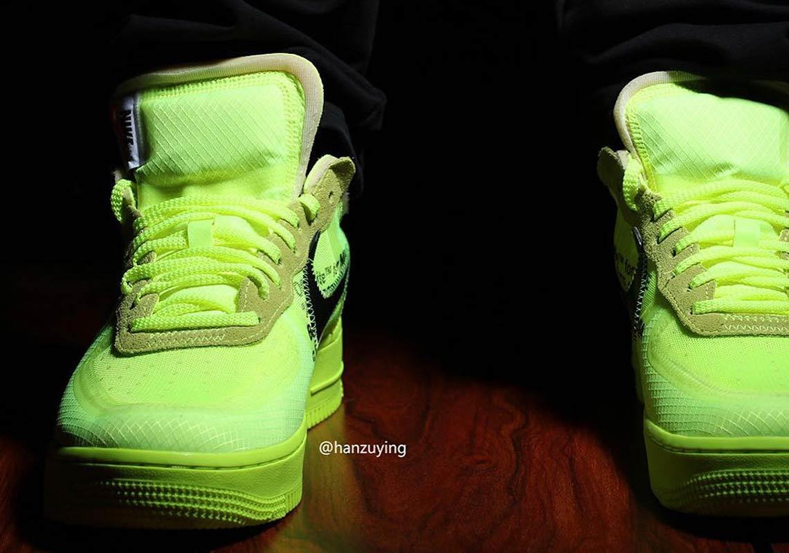 La Off White x Nike Air Force 1 ''Volt'' se précise
