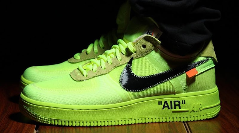 air force 1 nike jaune fluo