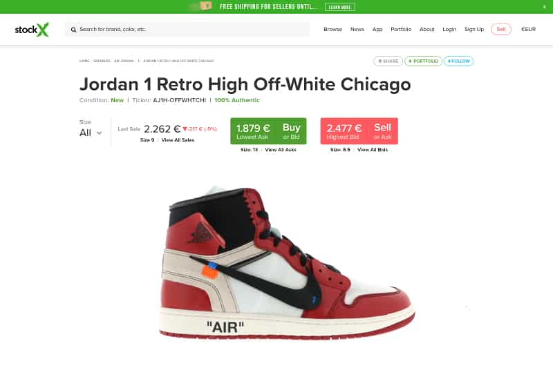 "Off-White x Nike Air Jordan 1 Retro High ""Chicago"""