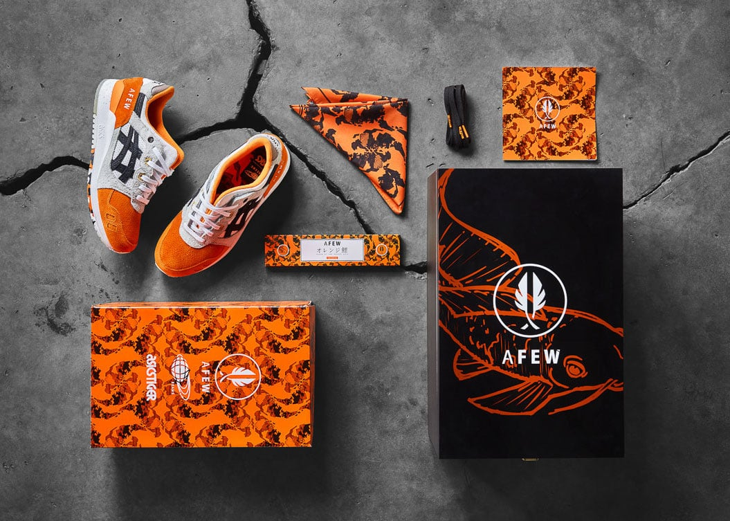 Afew x BEAMS x ASICS GEL-Lyte III ''Orange KOI''