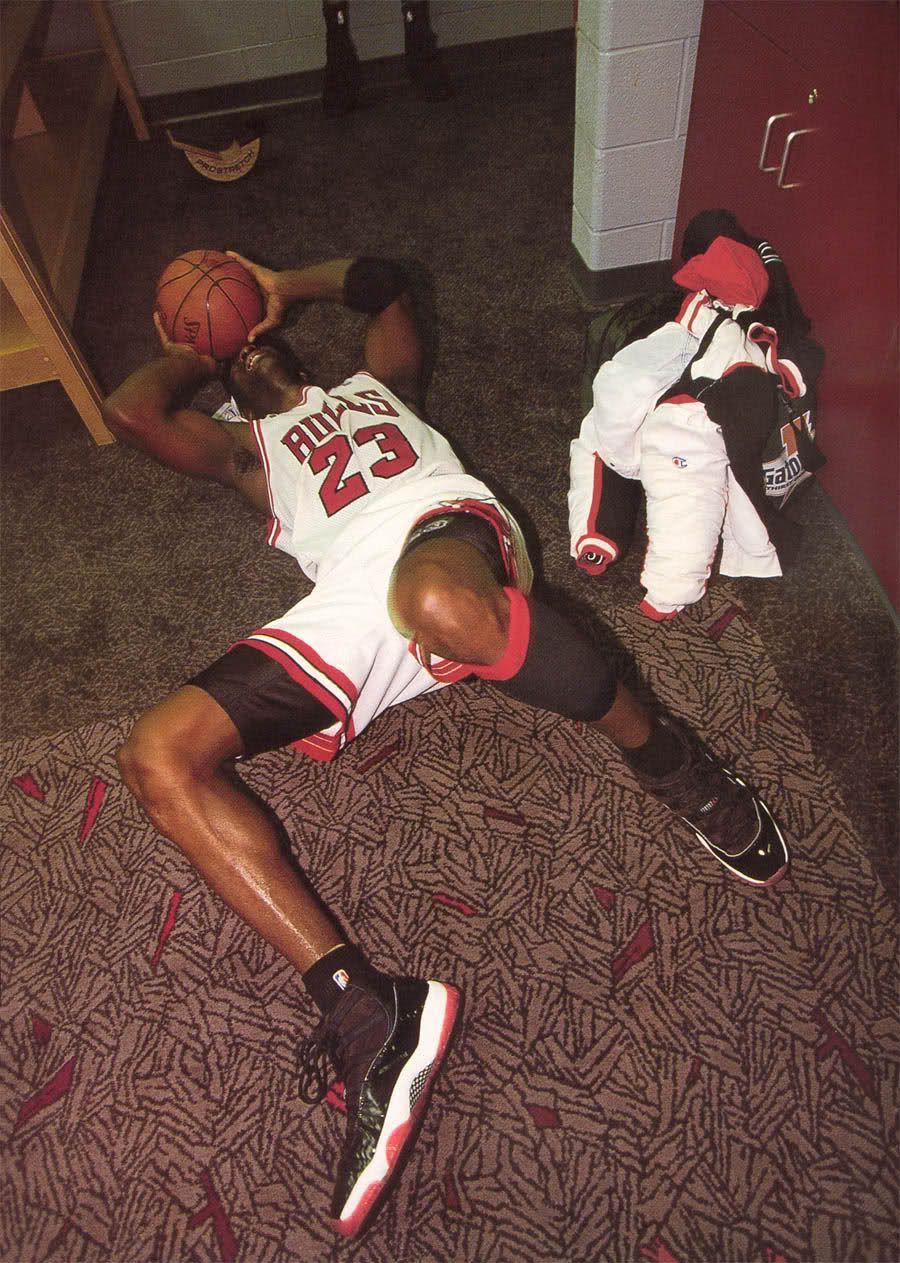 Michael Jordan en larmes