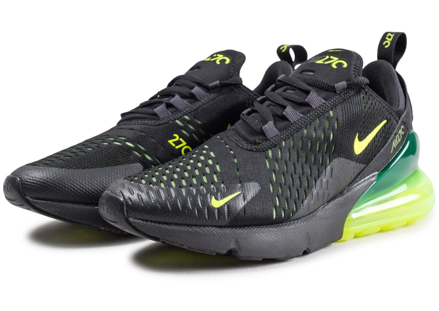 Nike Air Max 270 ''Black Volt'' Sneaker Style