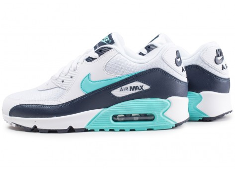 Nike Air Max 90 Essential blanche et bleue
