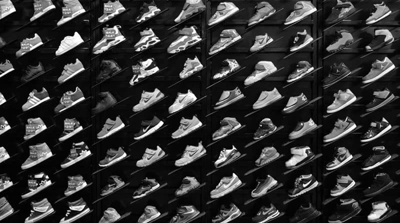 Sneakers wall - B&W