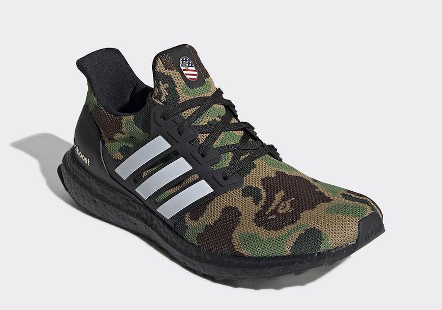 BAPE x adidas Originals Ultraboost ''Camo'' Pack Sneaker Style