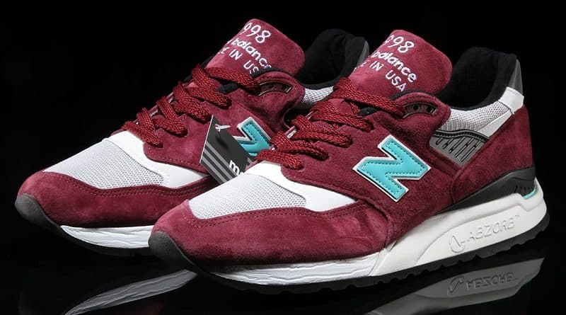 New Balance 998 ''Burgundy/White''