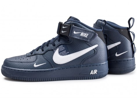 Nike Air Force 1 Mid 07 LV8 Utility Bleu marine et blanche