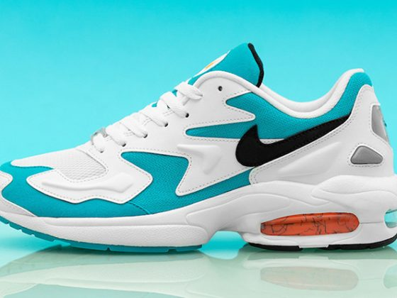 Nike Air Max2 Light ''White/Black/Blue Lagoon''