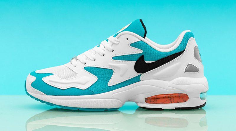 Nike Air Max2 Light ''WhiteBlackBlue Lagoon'' Sneaker Style