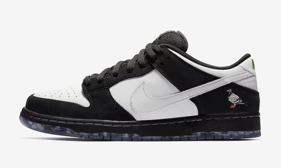Nike SB Dunk Low ''Panda Pigeon'' Sneaker Style