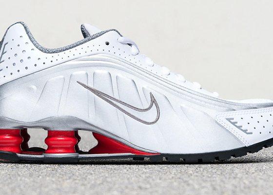 Nike Shox R4 OG - White/Silver/Red