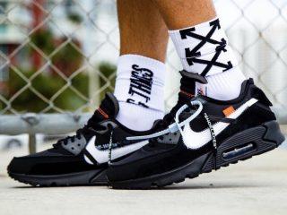 Off-White x Nike Air Max 90 ''Black/Cone''
