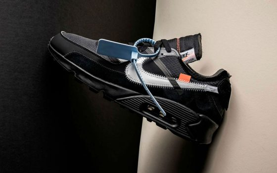 Off-White x Nike Air Max 90 ''Black/Cone'' - AA7293-001
