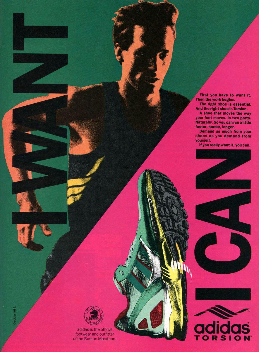 adidas TORSION - Affiche publicitaire originale