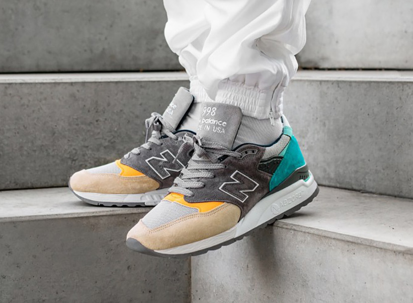 New Balance 998 ''Made in USA'' ''Sand and Aqua''