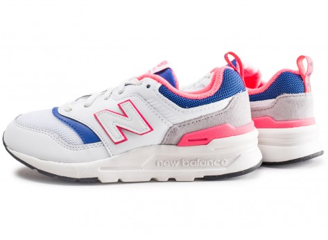 New Balance 997 blanc bleu rose enfant
