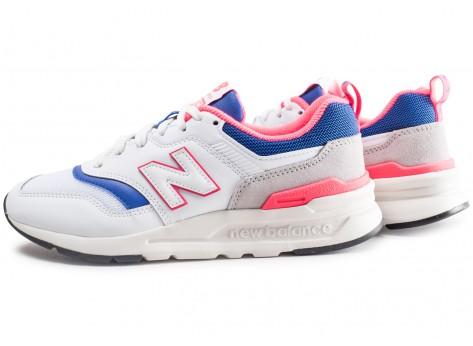 New Balance 997 blanc bleu rose femme