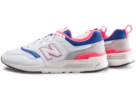 New Balance 997 blanche et bleue